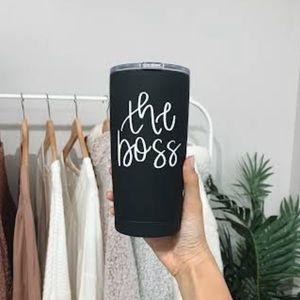 "🆕 Black ""The Boss"" Travel Mug"